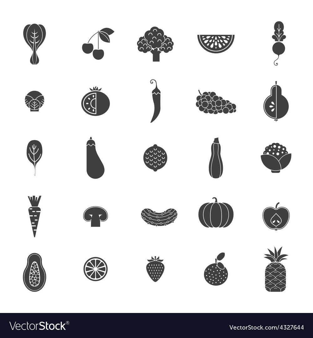 Fruits and veggies vector | Price: 1 Credit (USD $1)