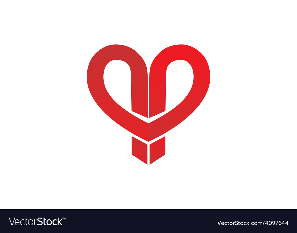 Love abstract ribbon logo vector | Price: 1 Credit (USD $1)