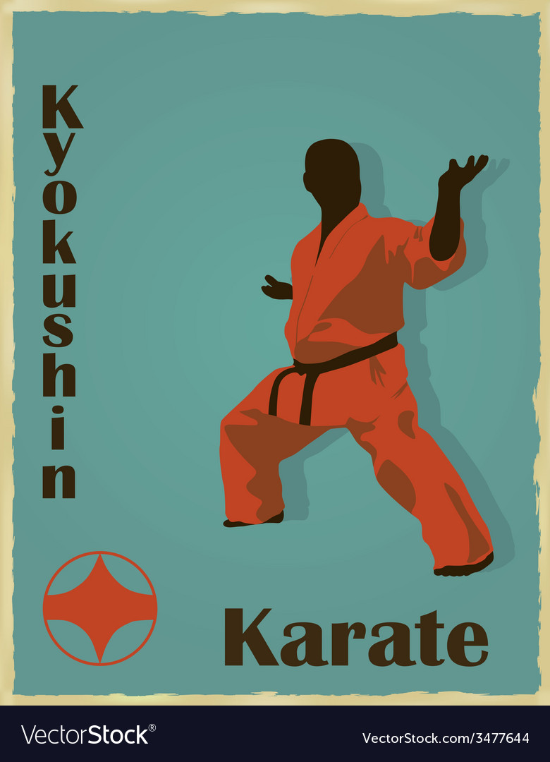 The old image of the man of the engaged karate vector | Price: 1 Credit (USD $1)
