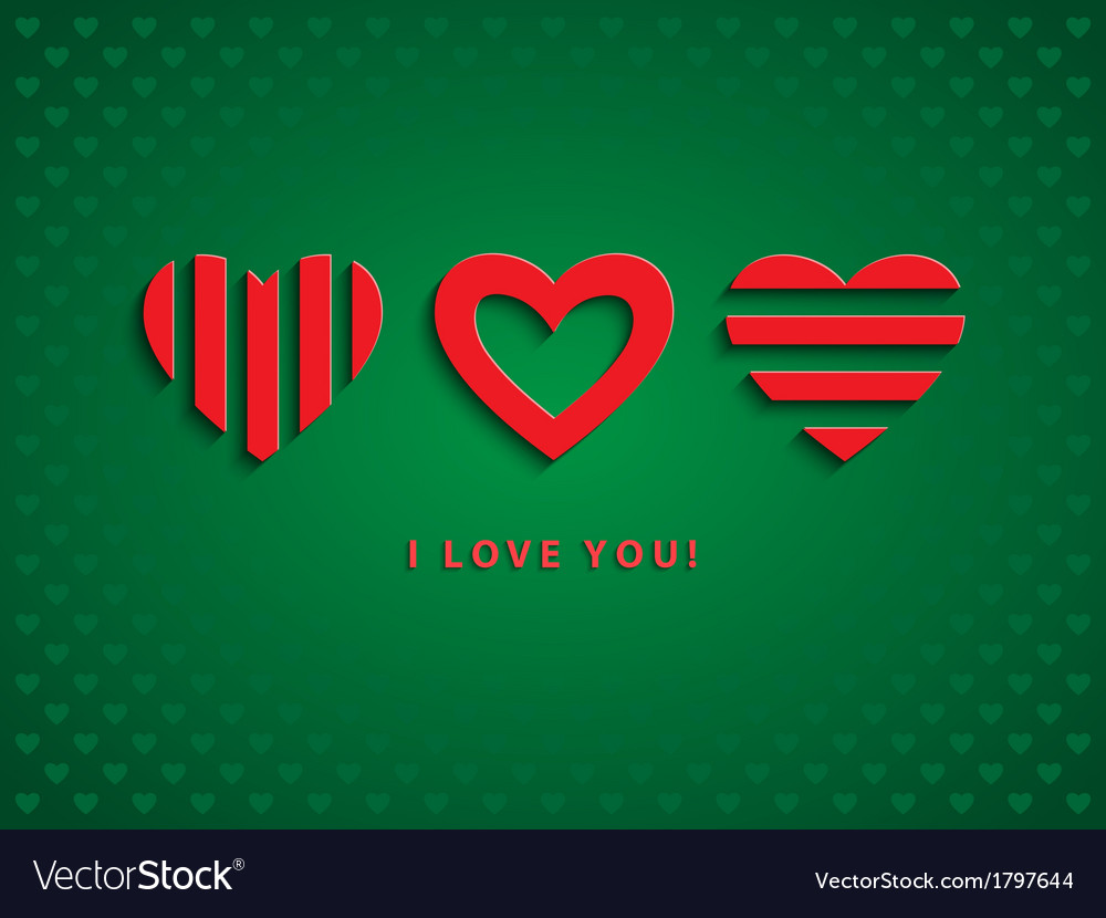 Three red hearts vector | Price: 1 Credit (USD $1)