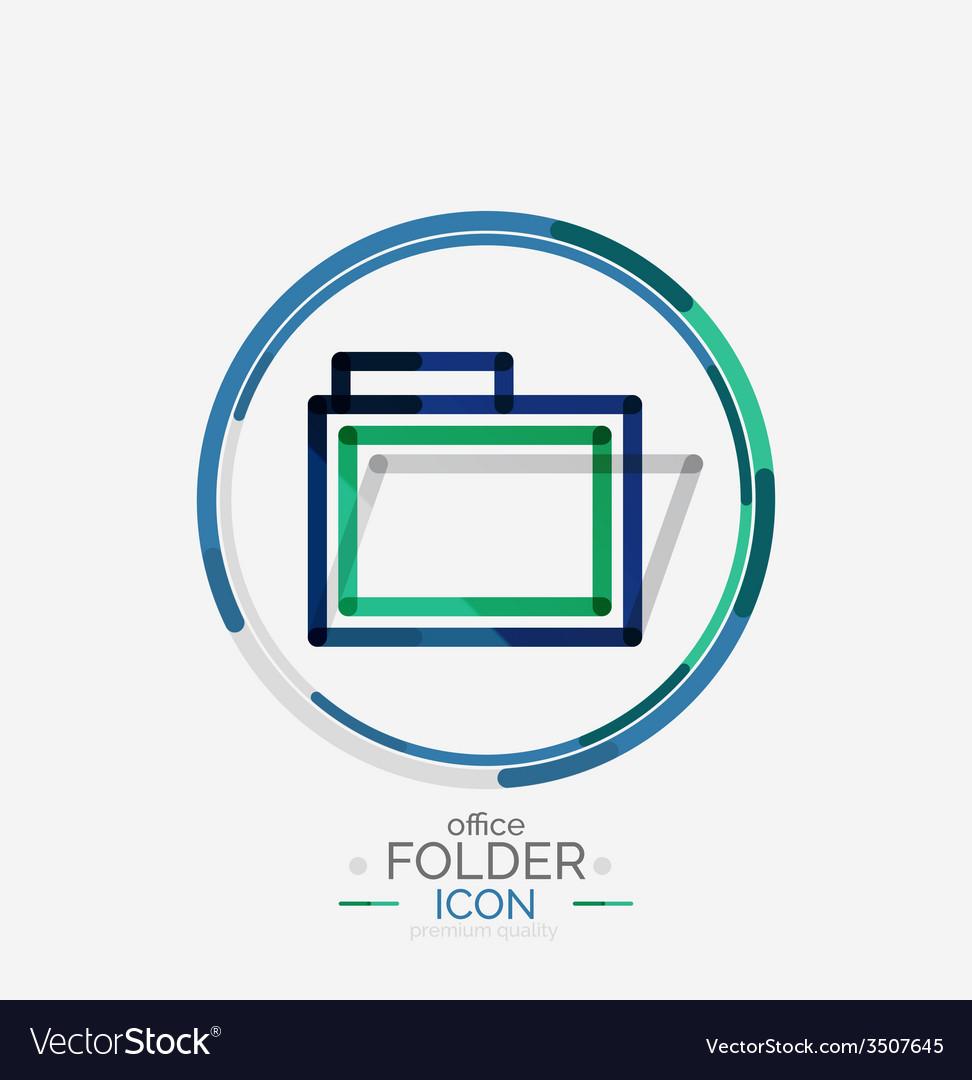 Folder logo stamp accounting binder vector | Price: 1 Credit (USD $1)