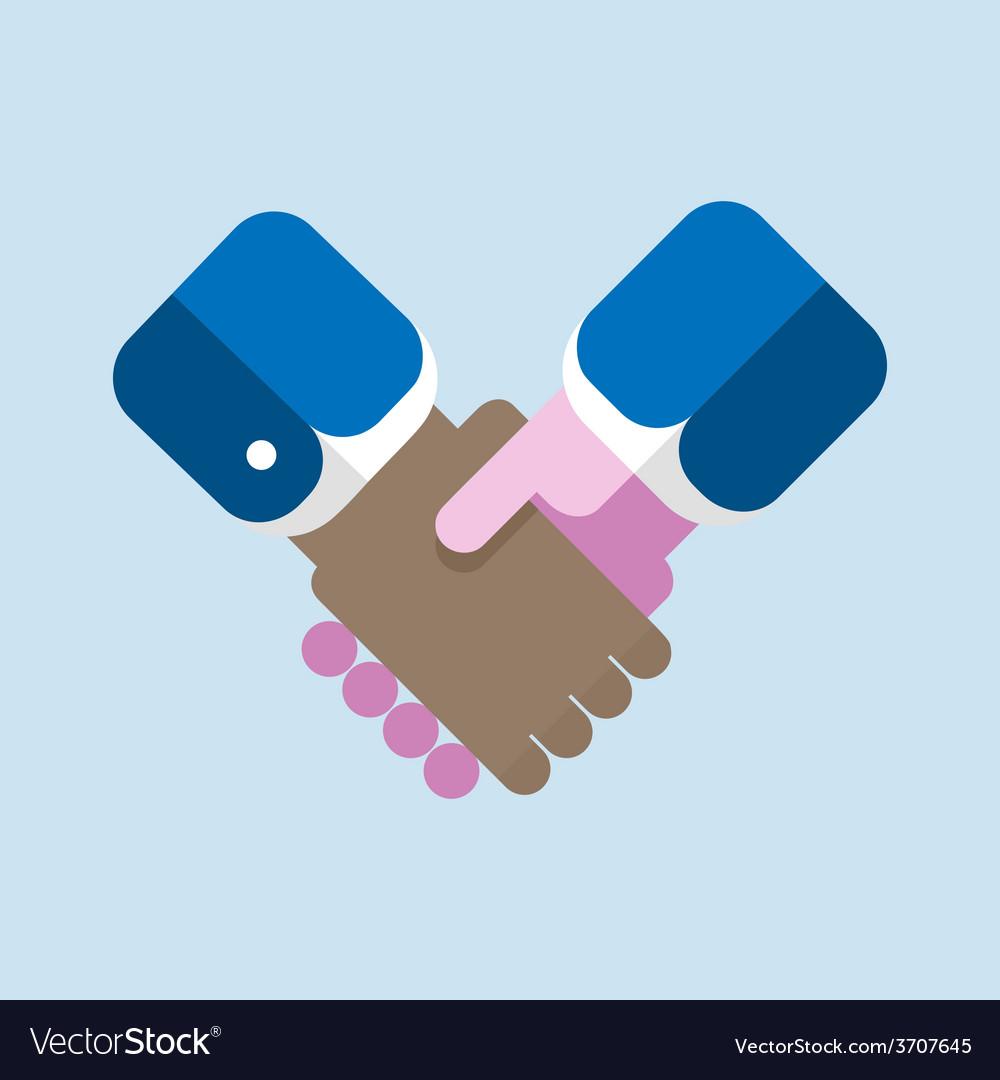 Handshake flat design vector | Price: 1 Credit (USD $1)