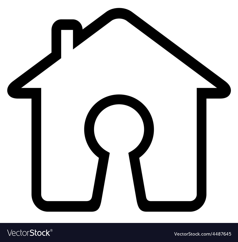 Keyhole on home icon vector | Price: 1 Credit (USD $1)