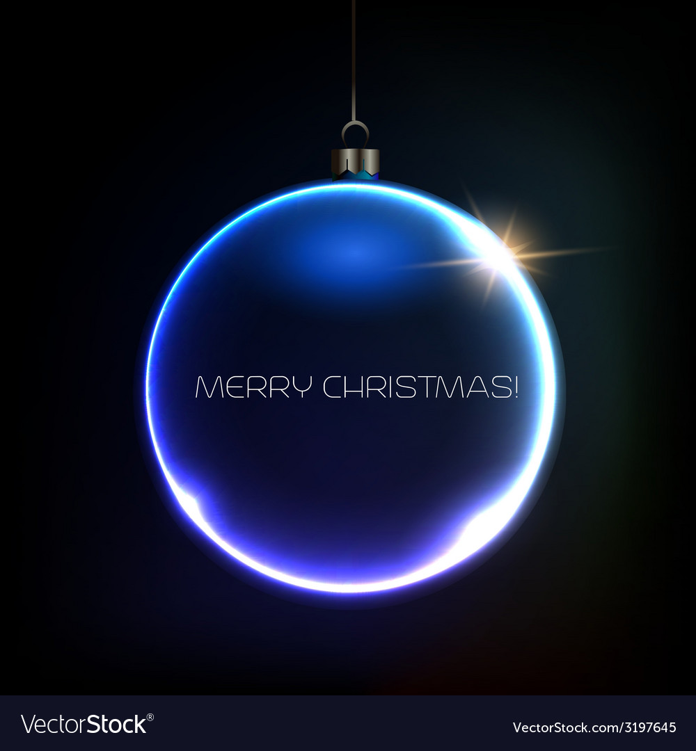 Merry christmas bauble greeting card vector | Price: 1 Credit (USD $1)