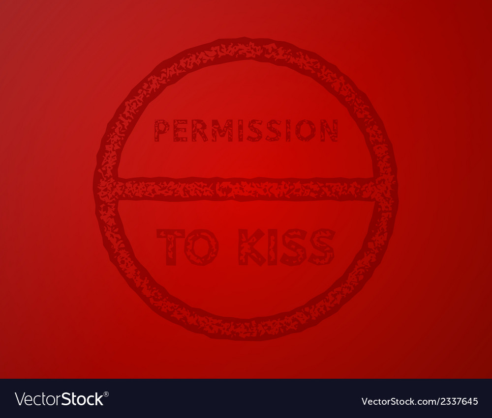 Permission to kiss vector | Price: 1 Credit (USD $1)