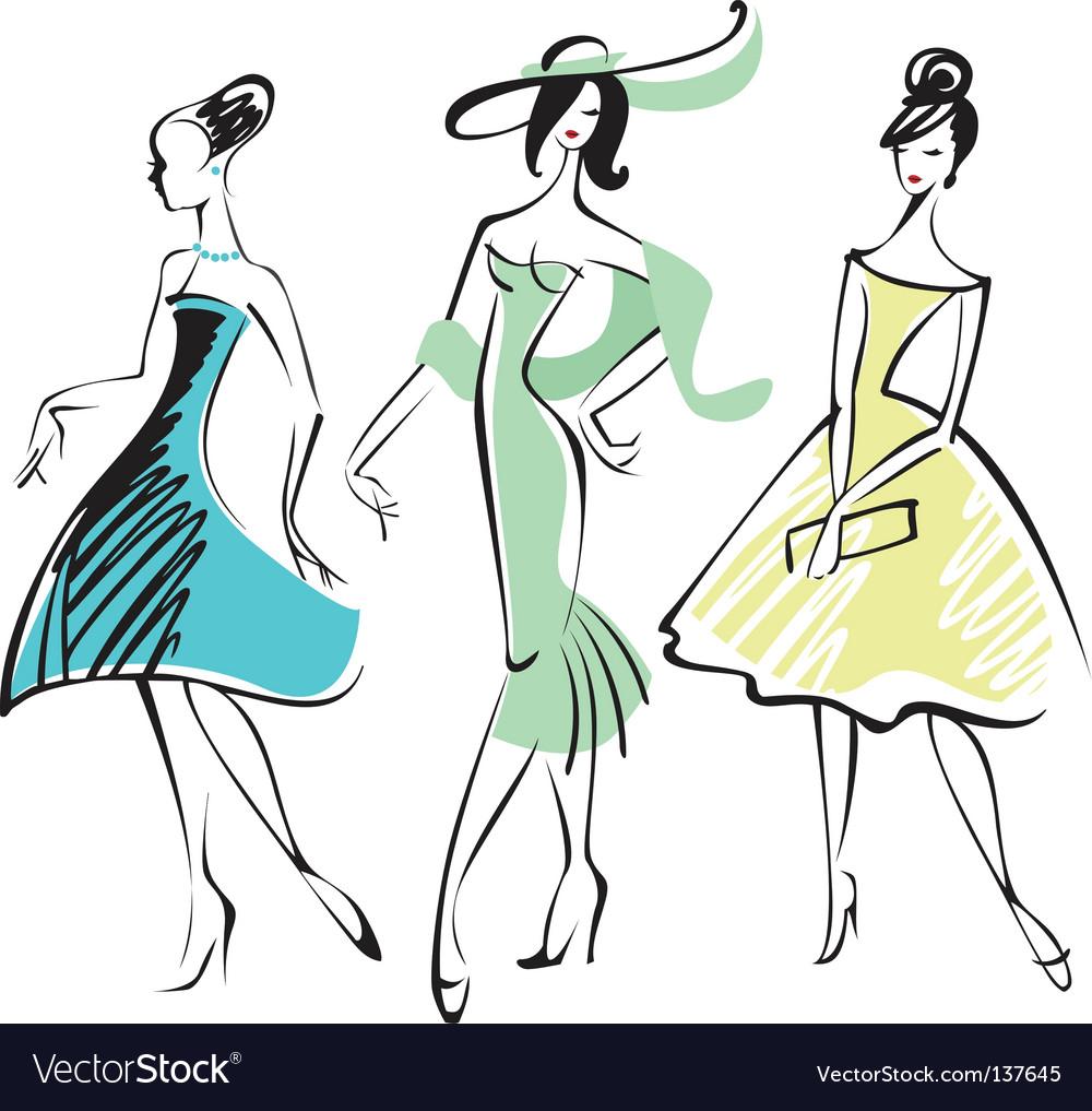 Retro fashion vector | Price: 3 Credit (USD $3)