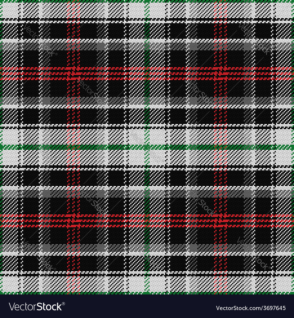 Seamless pattern scottish tartan panda vector | Price: 1 Credit (USD $1)