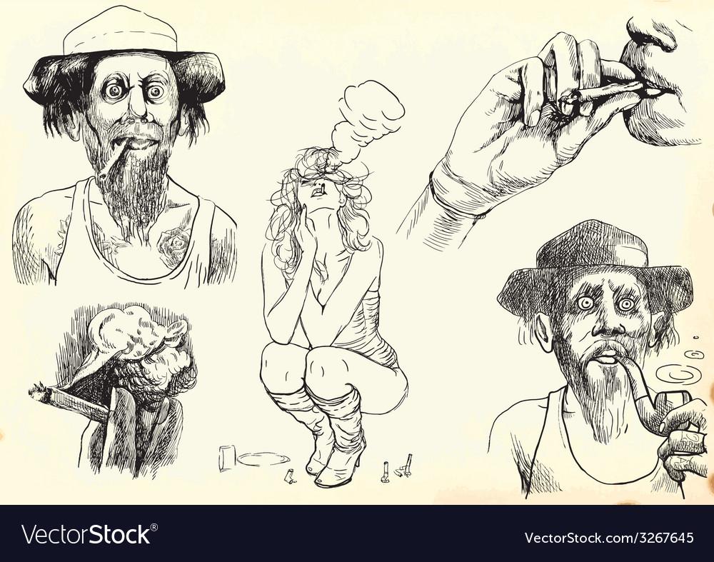 Smoking vector   Price: 1 Credit (USD $1)
