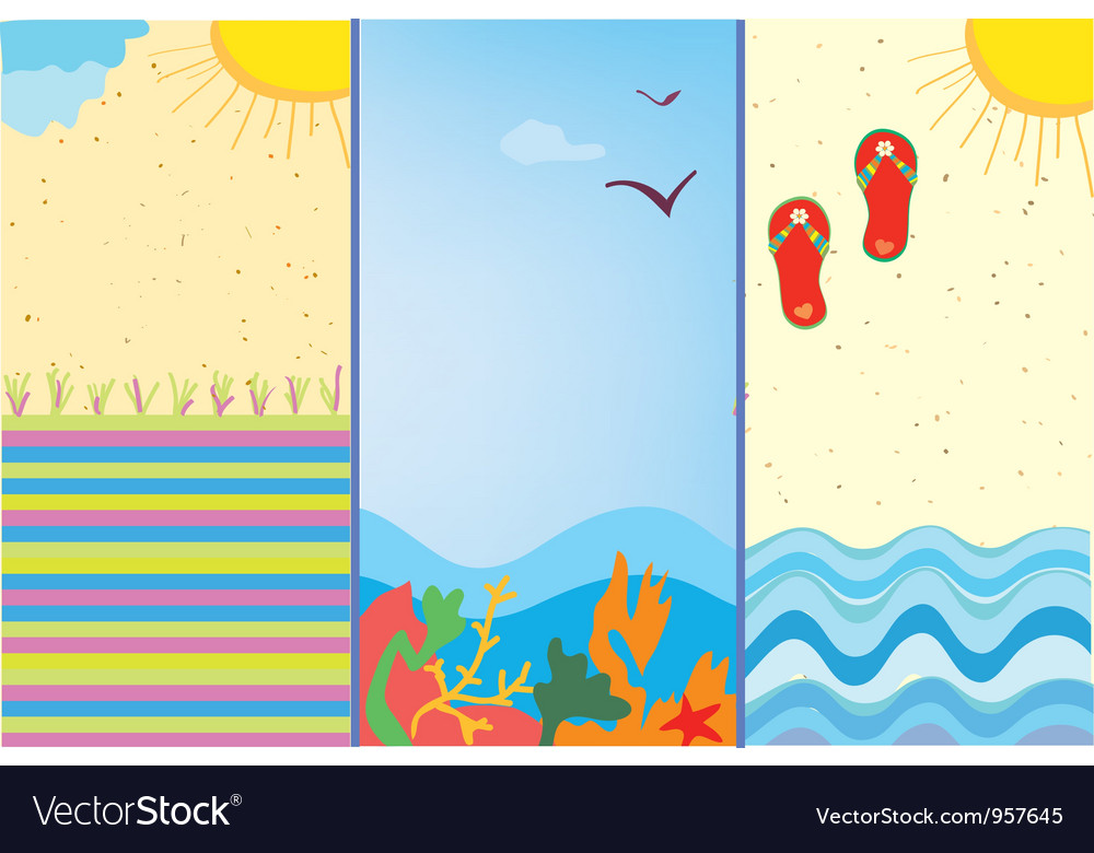 Summer beach time vector | Price: 1 Credit (USD $1)