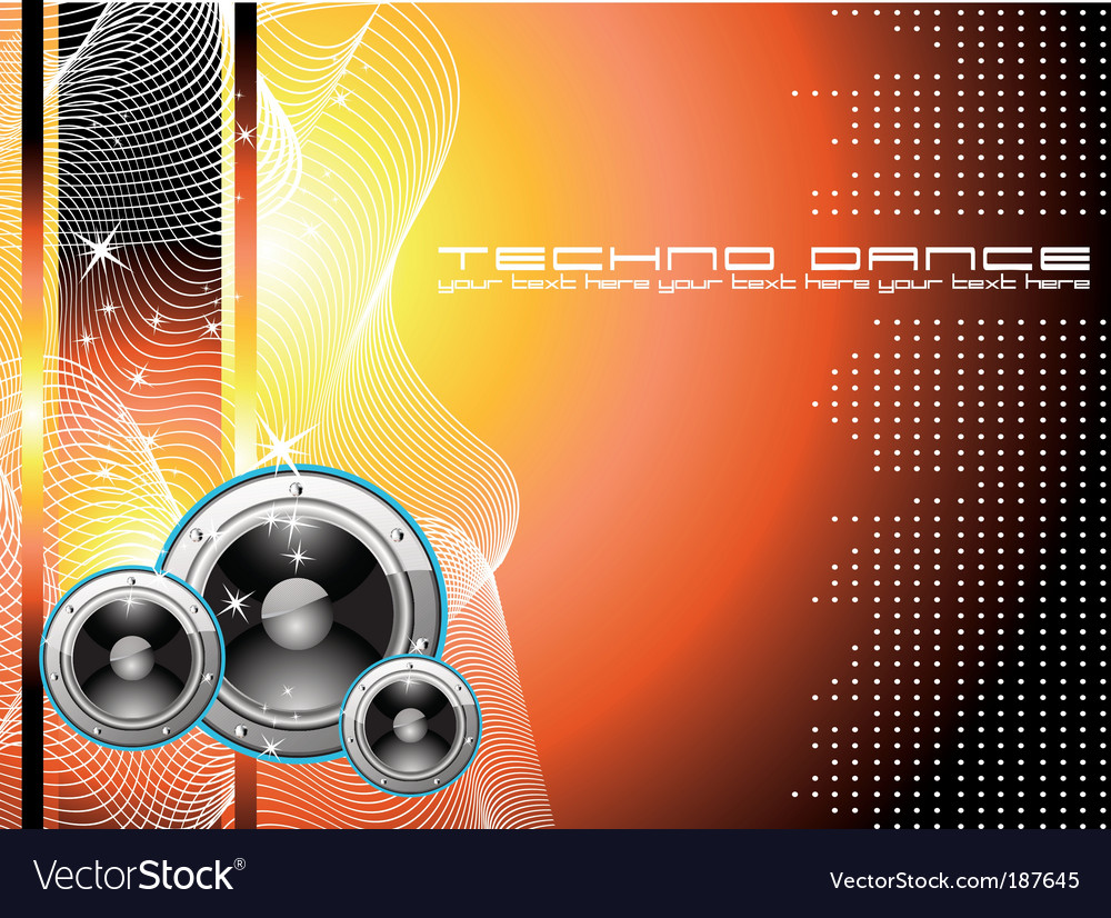 Techno dance background vector   Price: 3 Credit (USD $3)