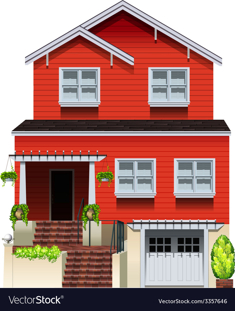 A big wooden house vector | Price: 1 Credit (USD $1)