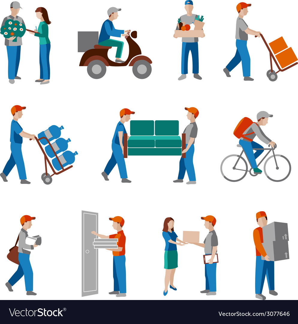 Delivery icons flat vector | Price: 1 Credit (USD $1)