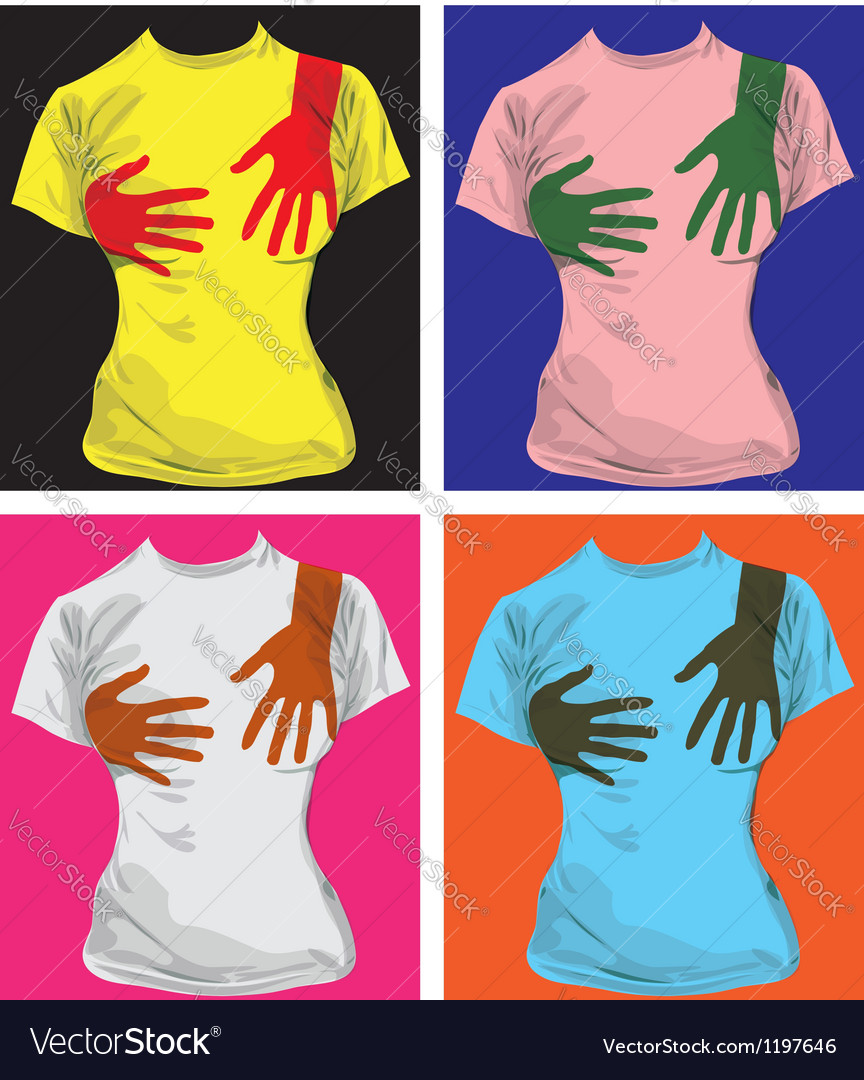 Hand print tees vector | Price: 1 Credit (USD $1)