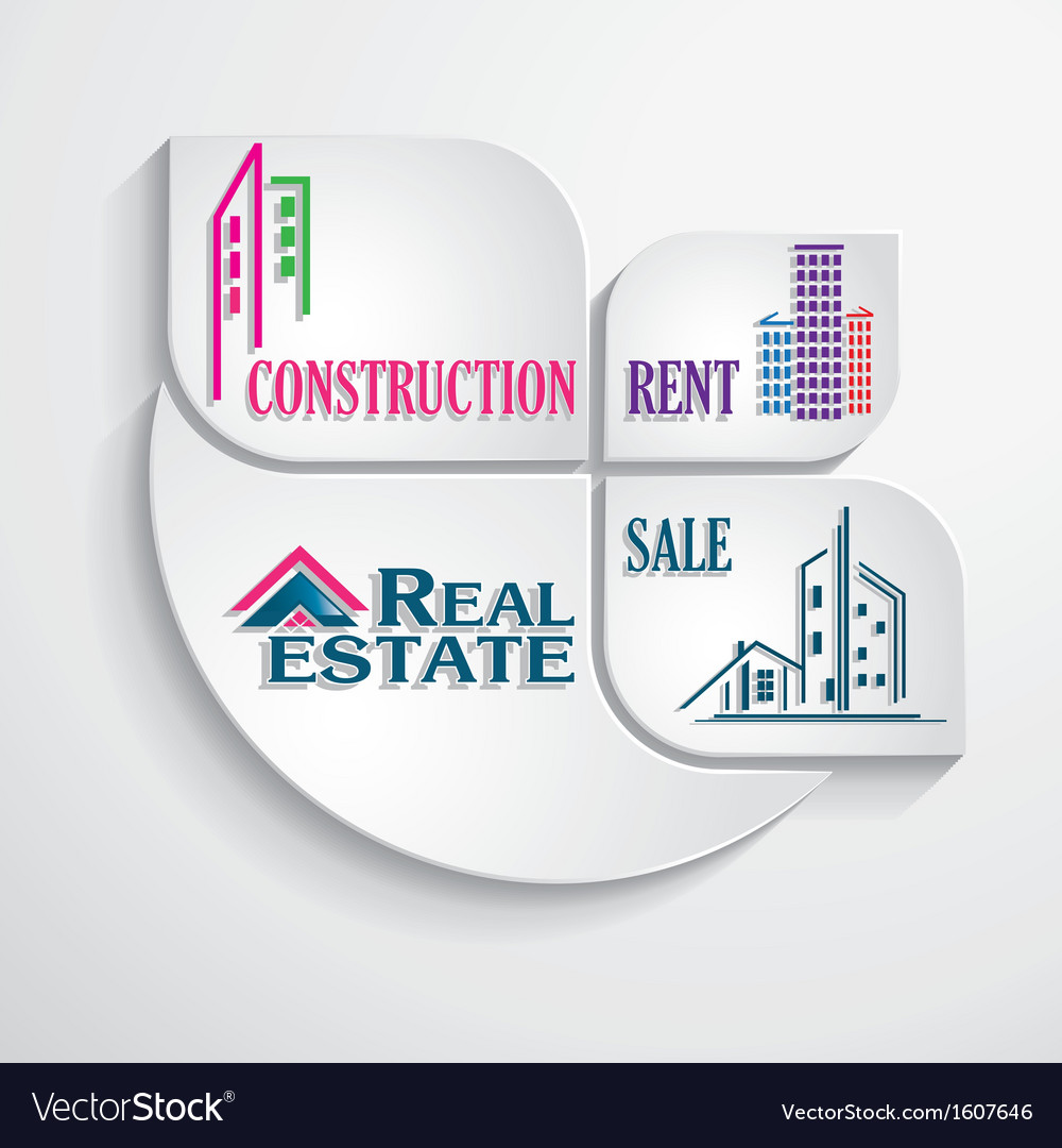 Modern concept for real estate business vector | Price: 1 Credit (USD $1)