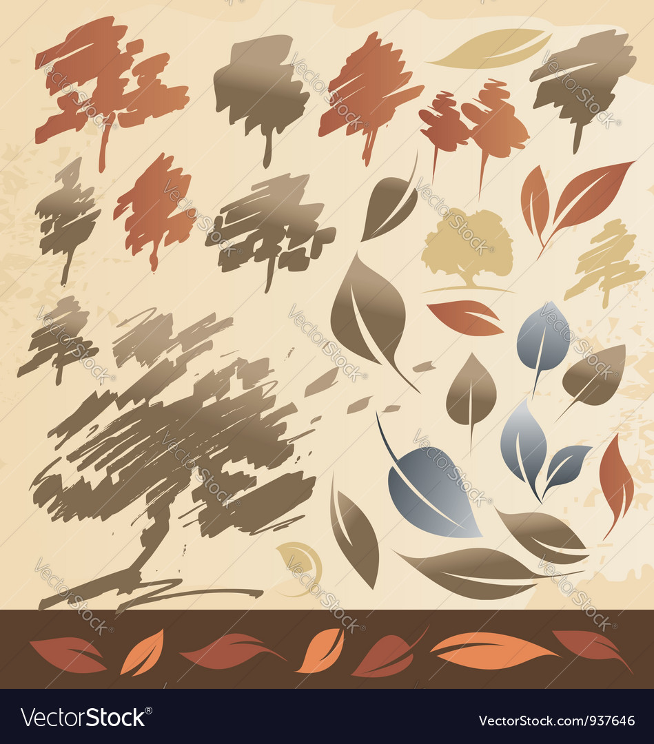 Tree and leaf vector | Price: 1 Credit (USD $1)