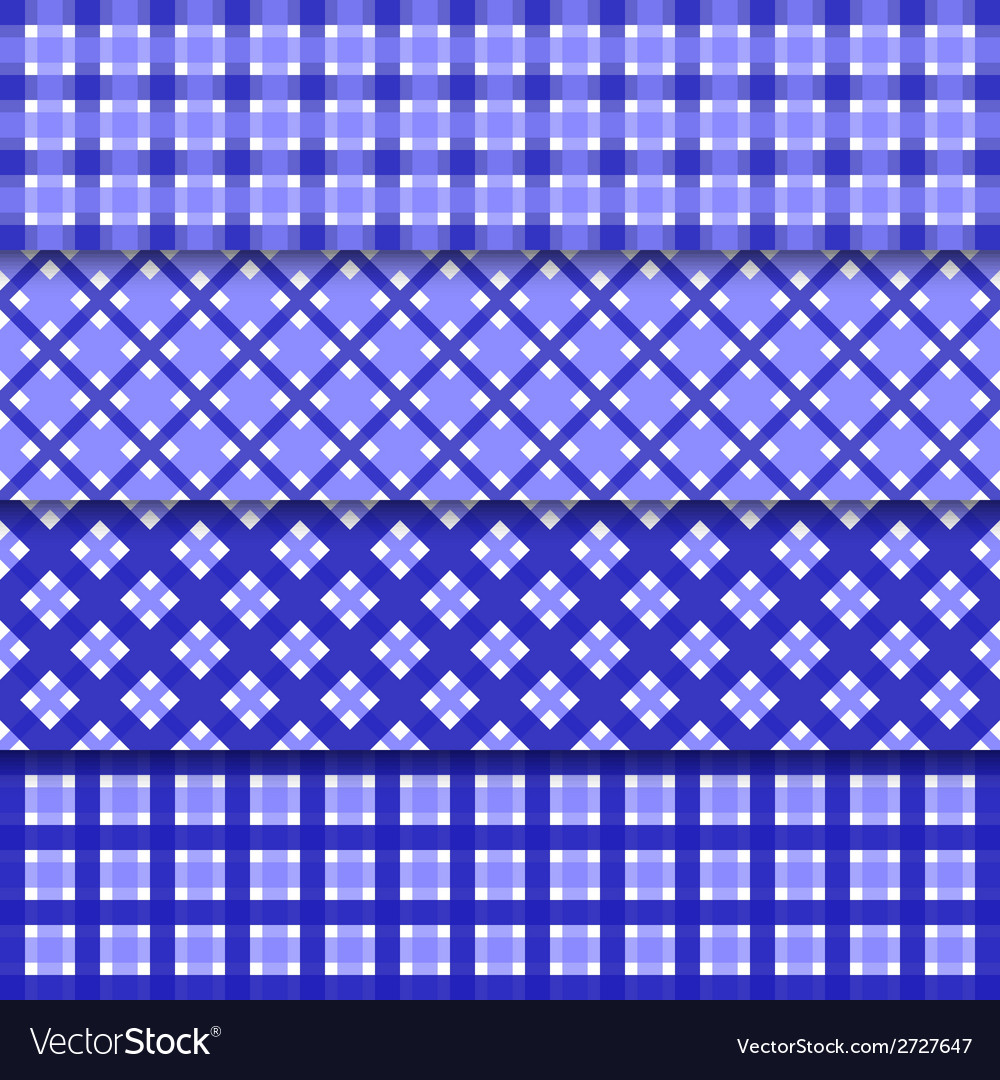 Abstract seamless set background with blue shapes vector | Price: 1 Credit (USD $1)