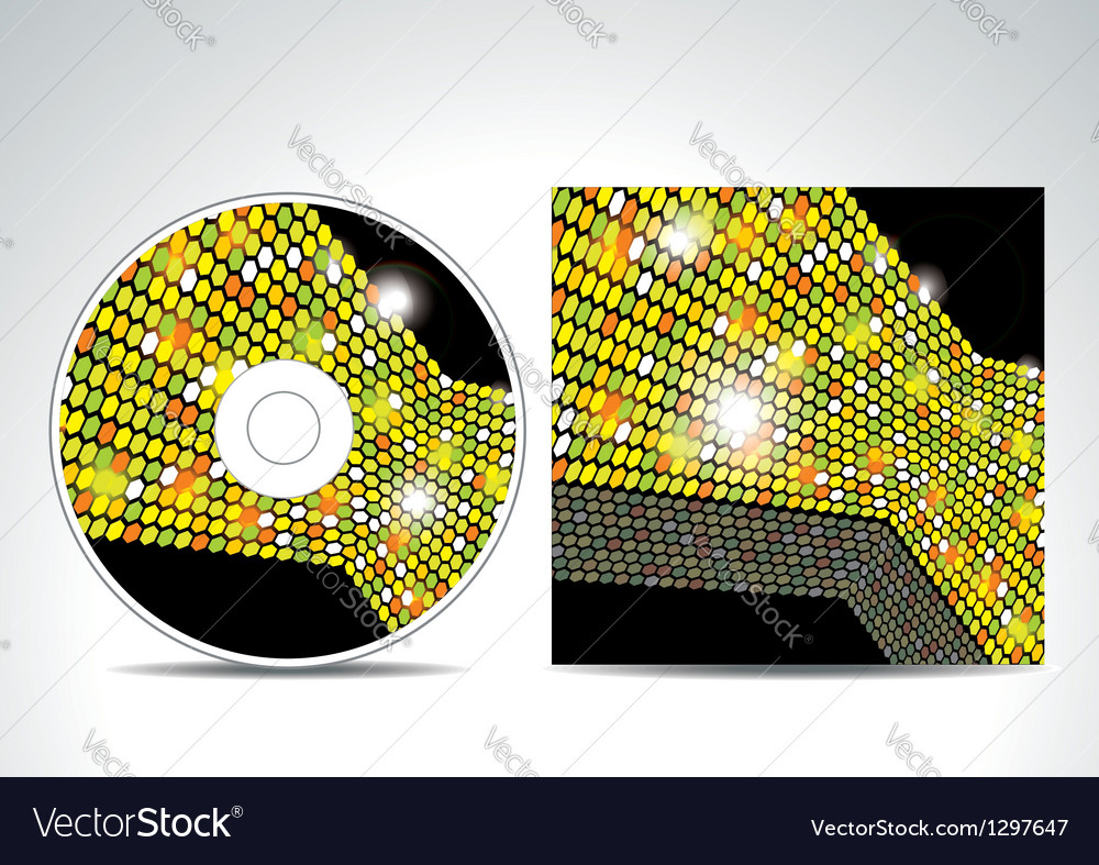Cd cover design with 3d presentation template vector | Price: 1 Credit (USD $1)