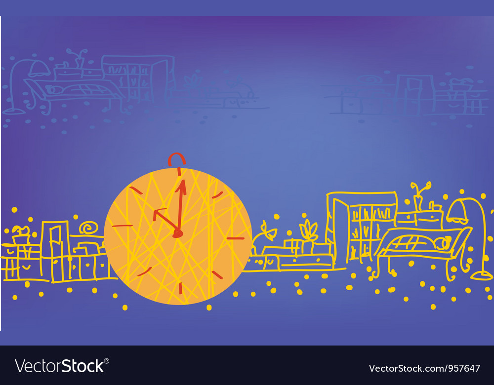 Clock background vector | Price: 1 Credit (USD $1)