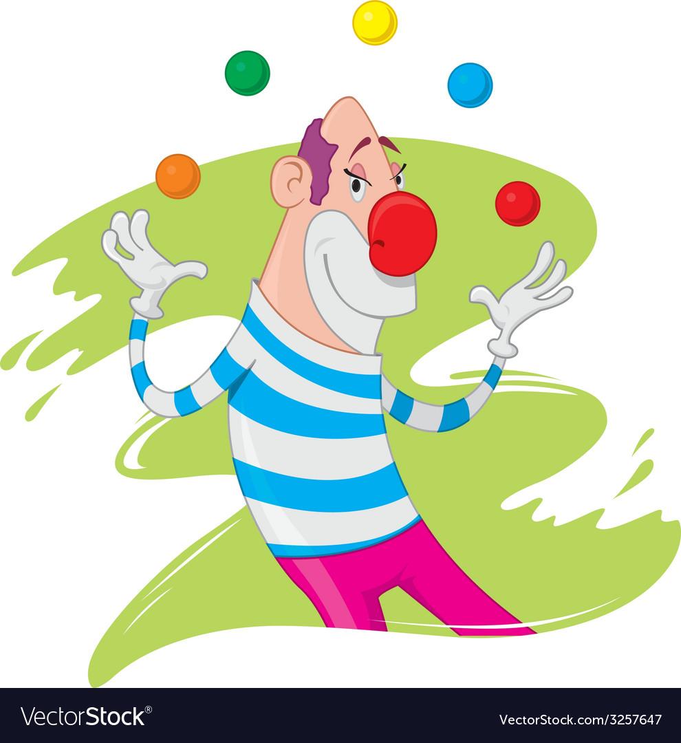 Clown juggling vector | Price: 1 Credit (USD $1)