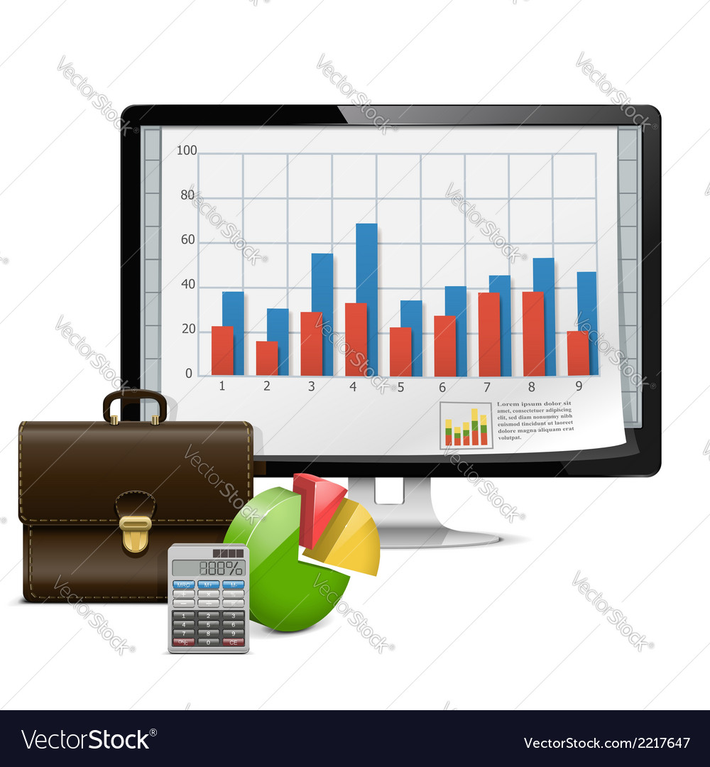 Computer business concept vector | Price: 1 Credit (USD $1)