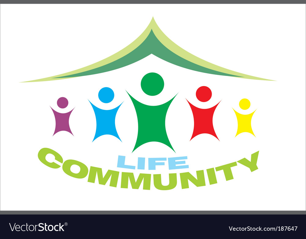 Life community symbol vector | Price: 3 Credit (USD $3)