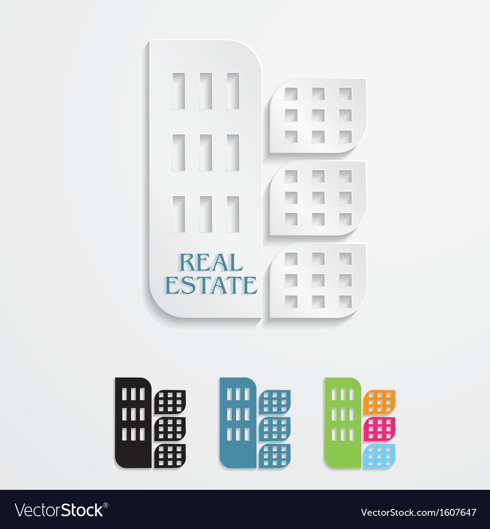 Modern icons for real estate business design vector | Price: 1 Credit (USD $1)