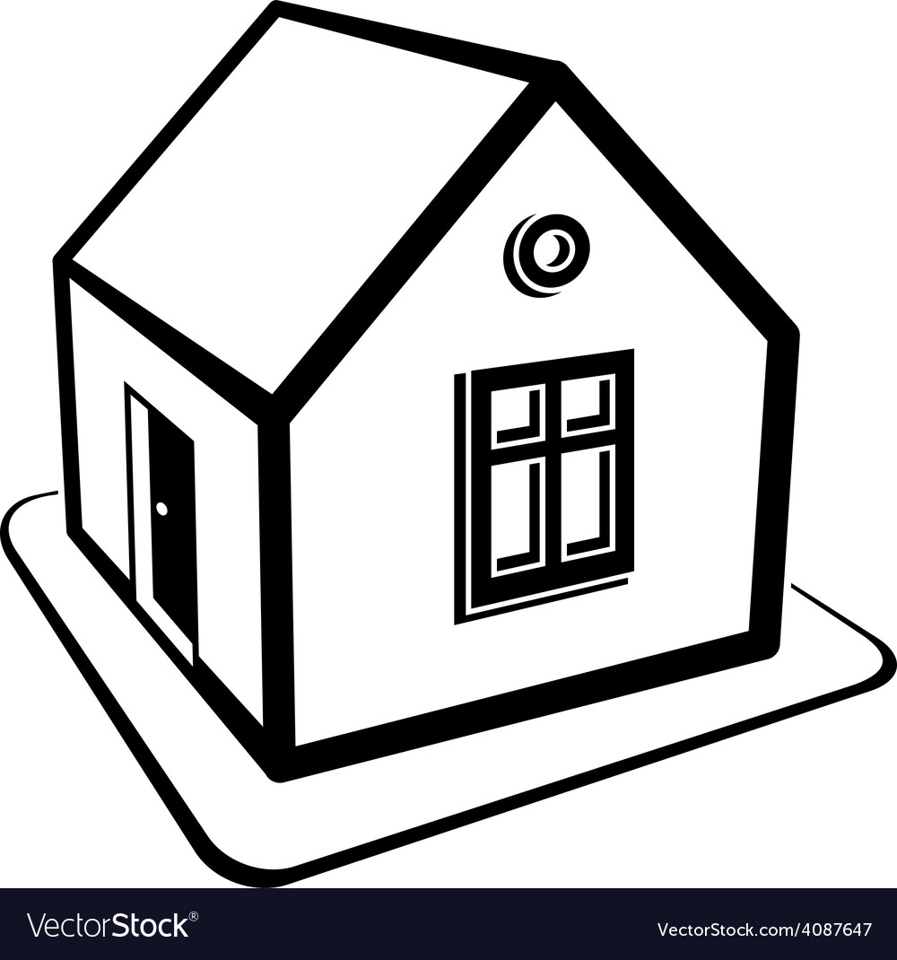 Real estate simple business icon isolated on white vector   Price: 1 Credit (USD $1)