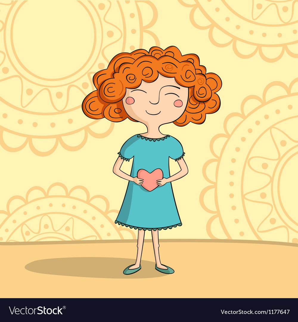 Red haired girl vector | Price: 3 Credit (USD $3)