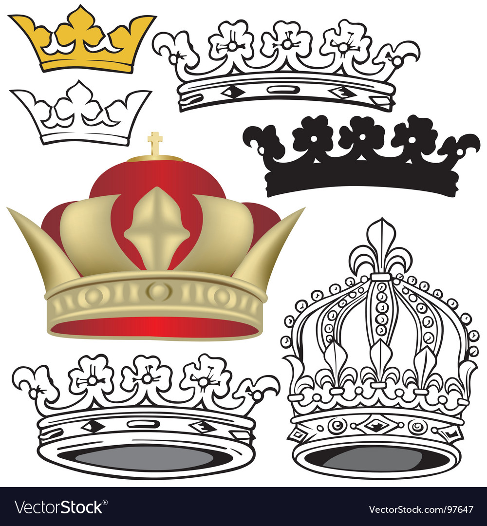 Royal crowns vector | Price: 1 Credit (USD $1)