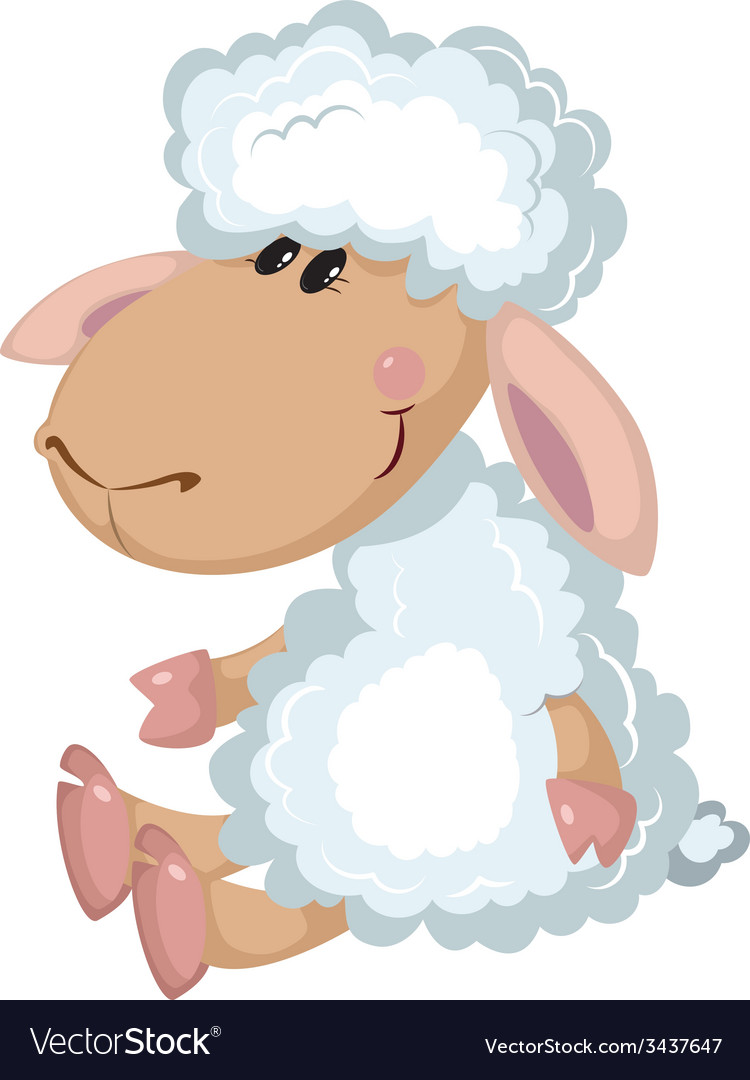 Sheep sits vector | Price: 3 Credit (USD $3)