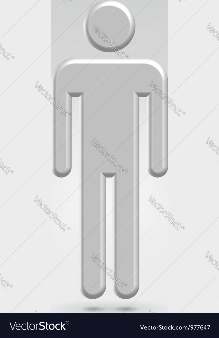 Silver male person icon vector | Price: 1 Credit (USD $1)