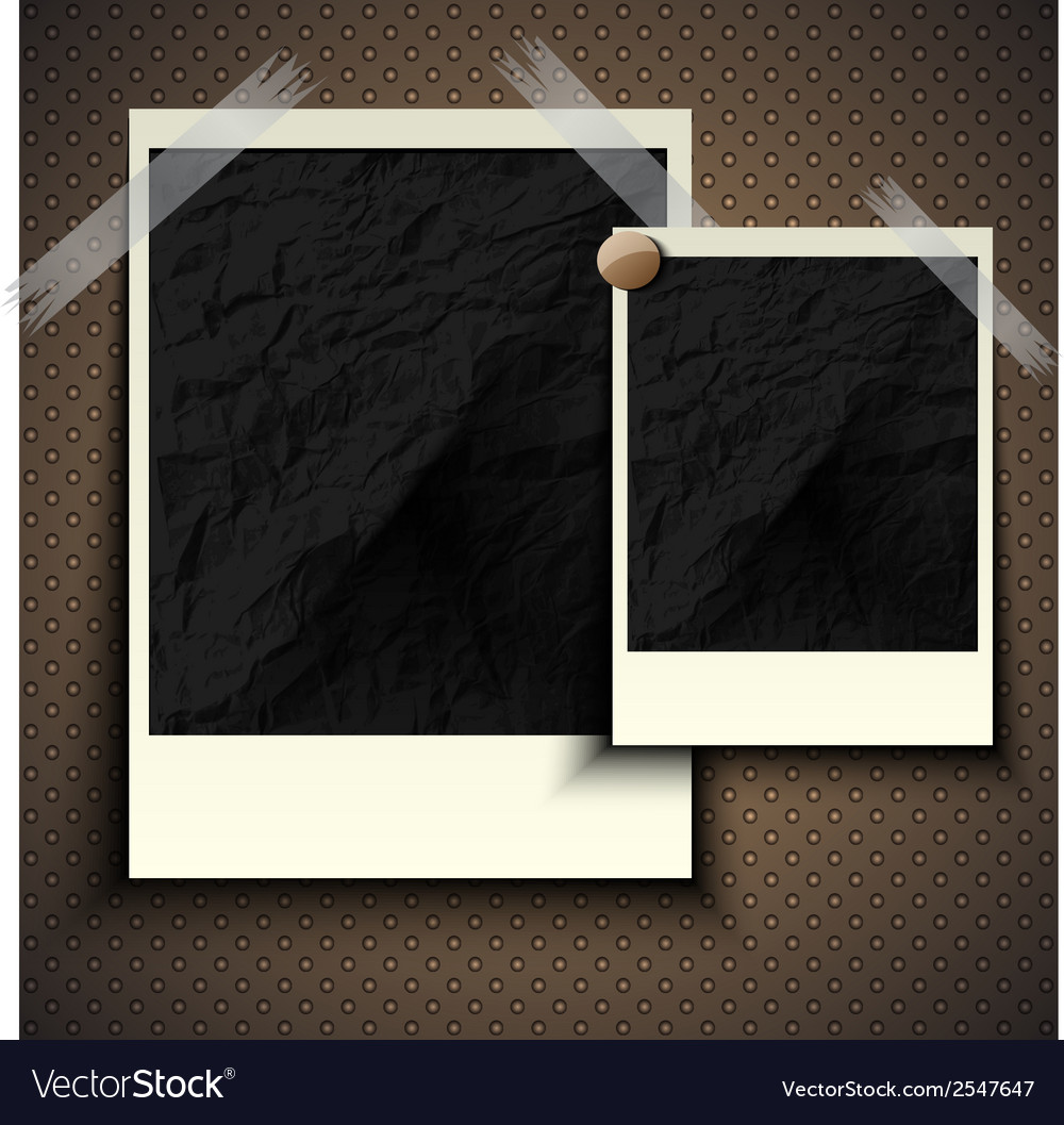 Vintage retro photo hanging on a stone wall with vector | Price: 1 Credit (USD $1)