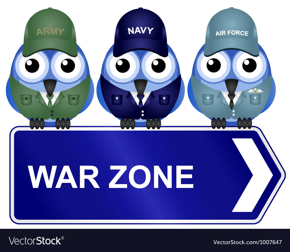 War zone sign vector | Price: 1 Credit (USD $1)