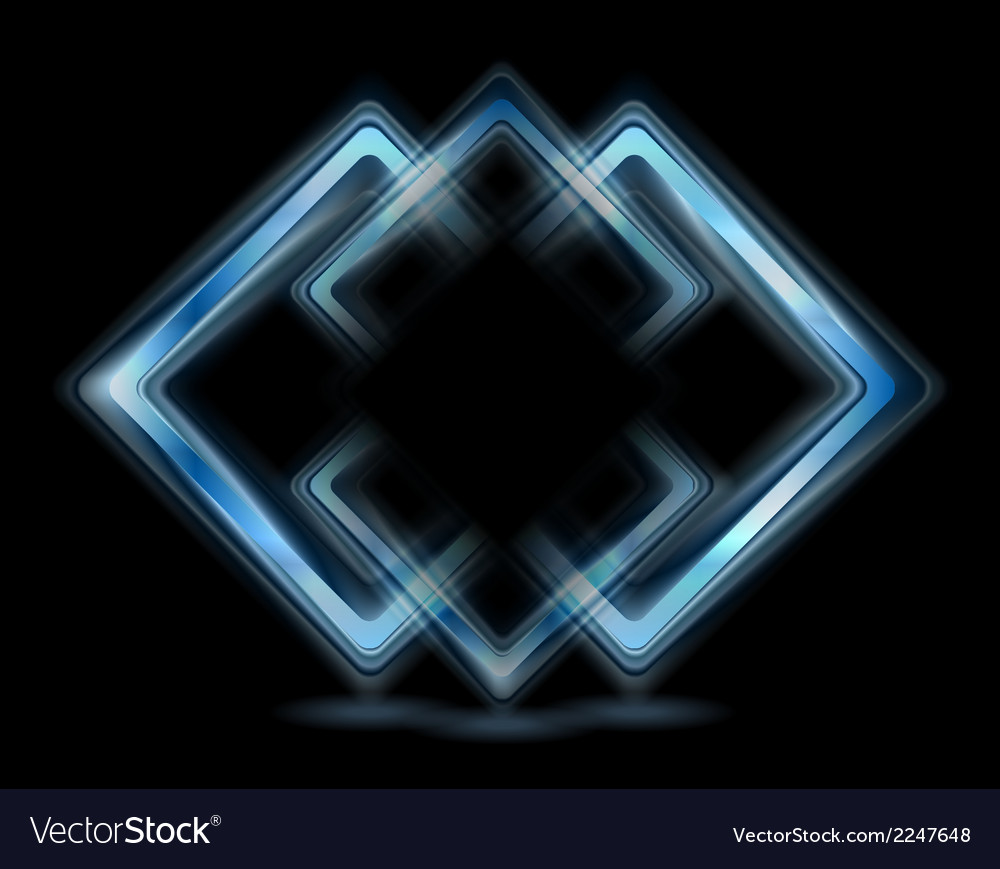 Abstract blue squares logo vector | Price: 1 Credit (USD $1)