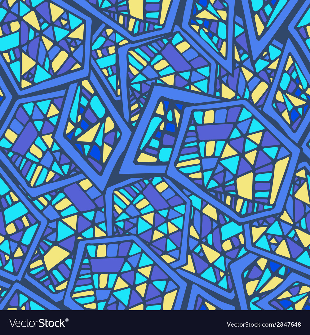 Abstract geometric seamless pattern with mosaic vector | Price: 1 Credit (USD $1)