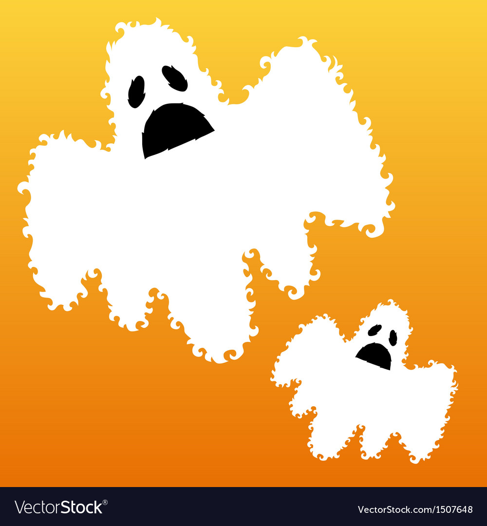Decorative ghosts vector | Price: 1 Credit (USD $1)