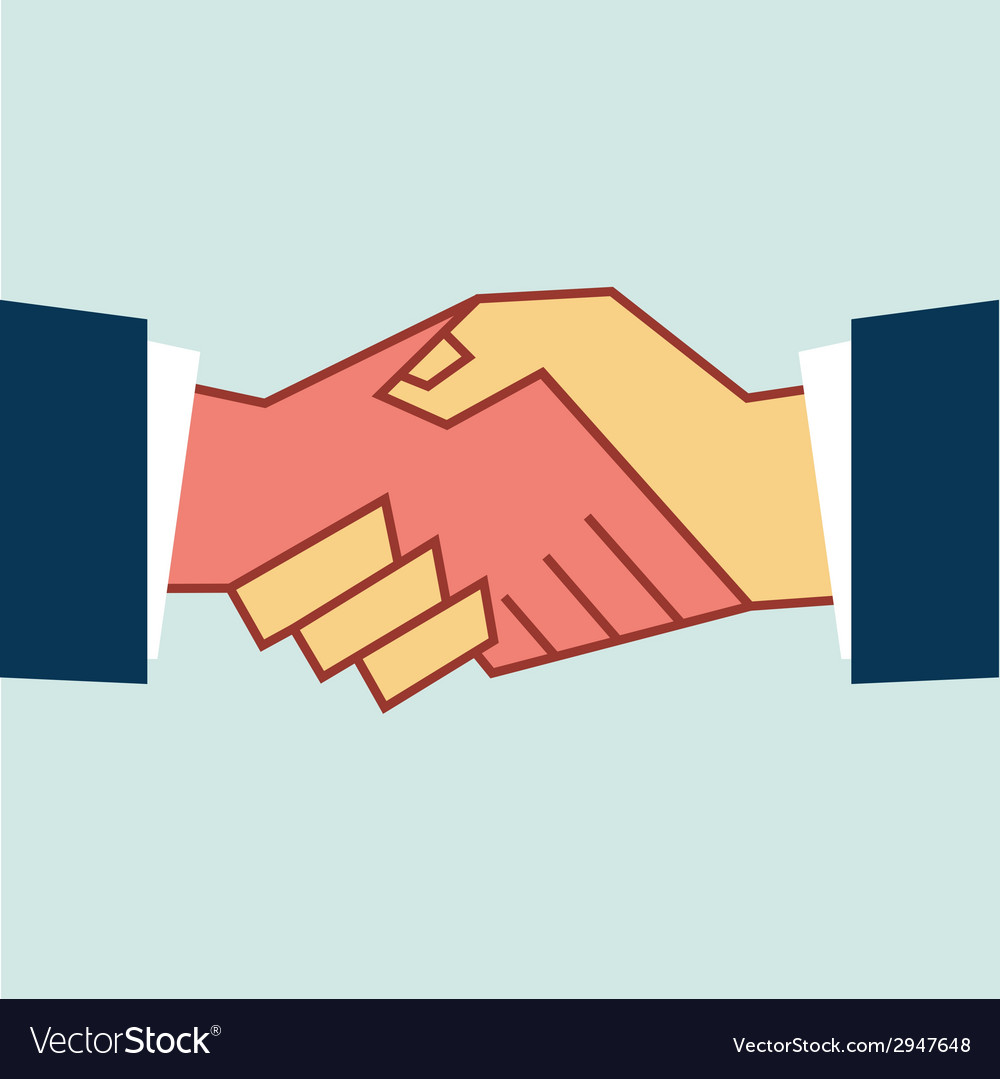 Flat handshake icon business vector | Price: 1 Credit (USD $1)