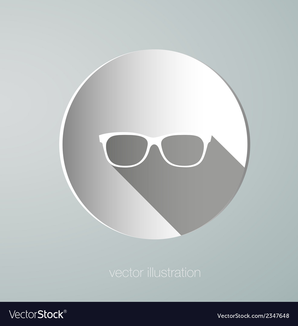 Icon paper glasses vector | Price: 1 Credit (USD $1)