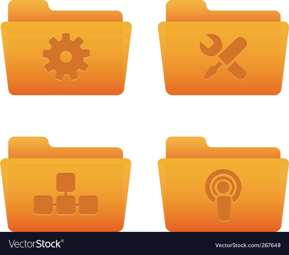 Orange folders internet vector | Price: 1 Credit (USD $1)