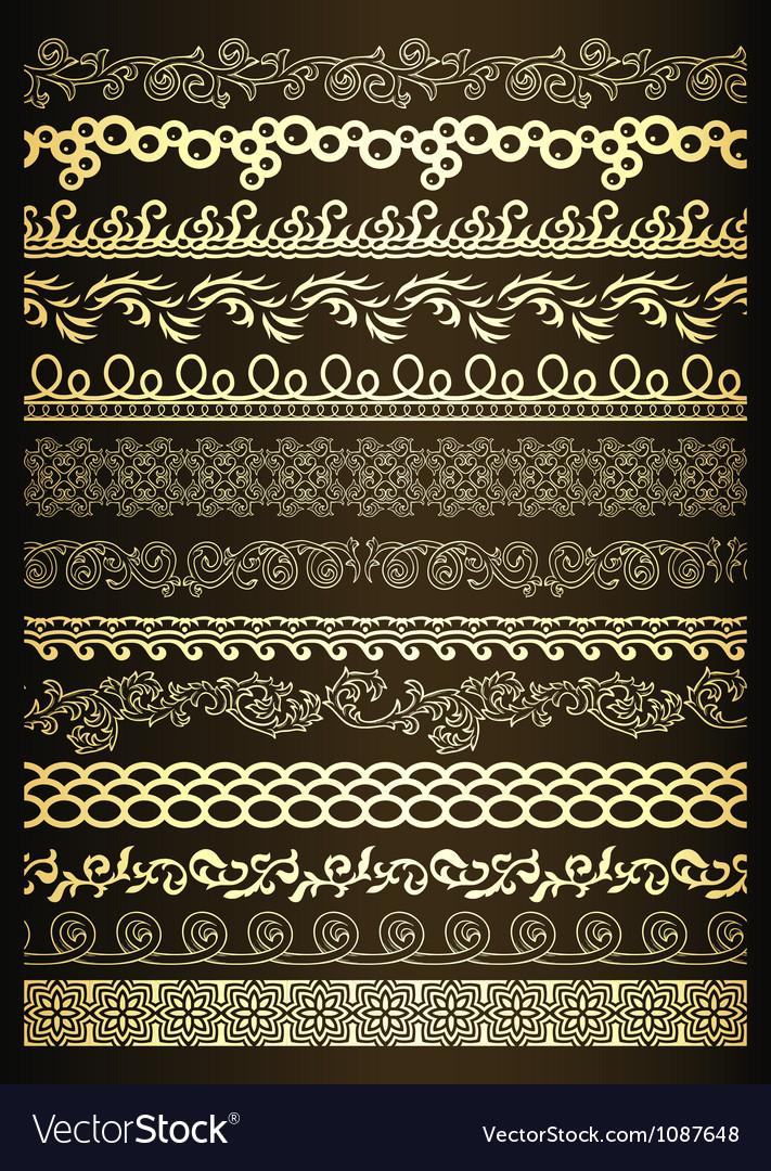 Set of elegant borders vector | Price: 1 Credit (USD $1)