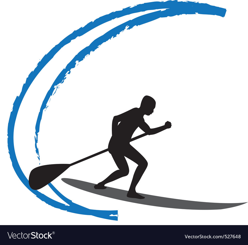 Stand up paddle boarding vector   Price: 1 Credit (USD $1)