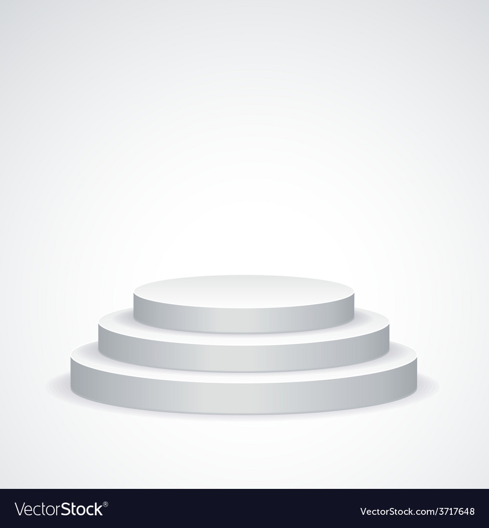 White podium vector | Price: 1 Credit (USD $1)