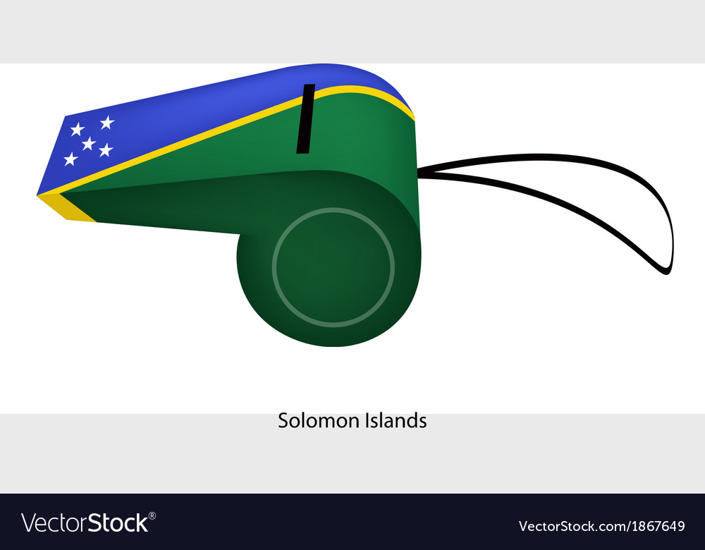 A beautiful whistle of solomon islands flag vector | Price: 1 Credit (USD $1)