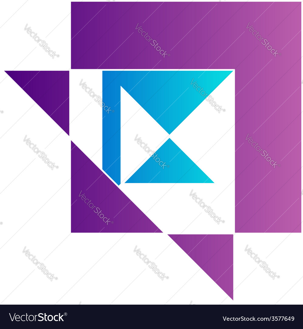 Abstract kite shaped logo for business vector | Price: 1 Credit (USD $1)