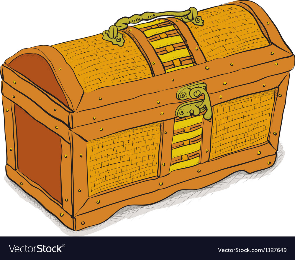 Ancient pirate chest vector | Price: 1 Credit (USD $1)