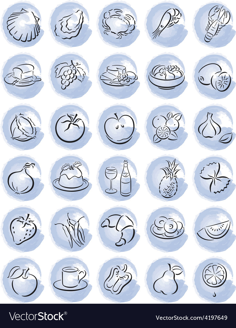 Blue food splotches vector | Price: 1 Credit (USD $1)