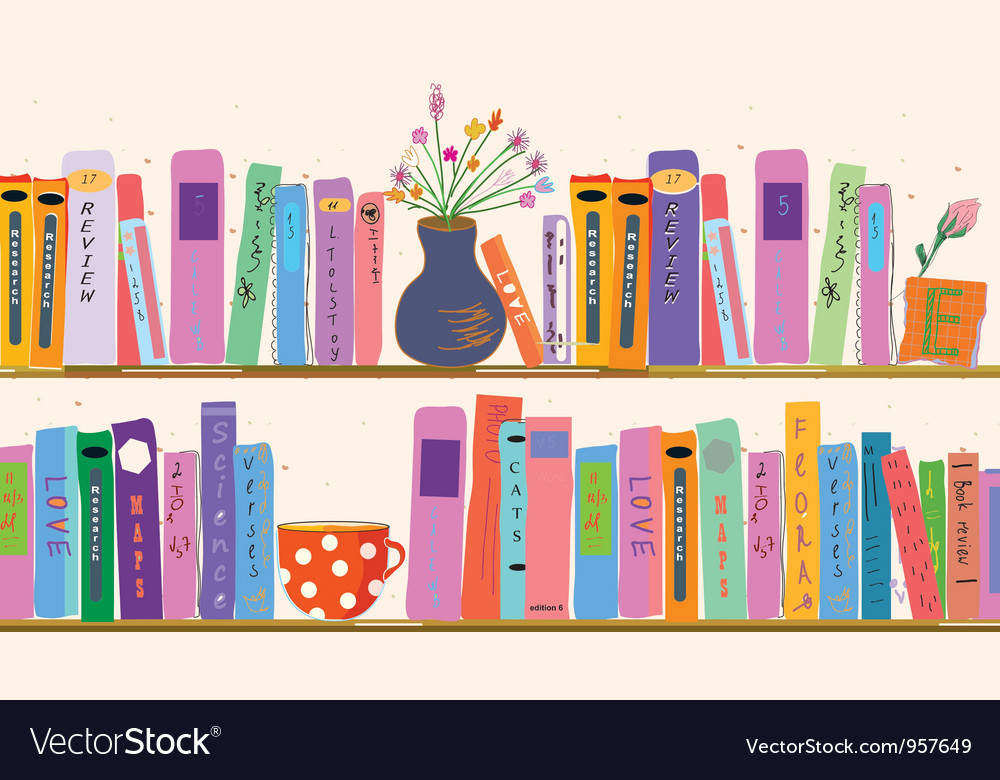 Book shelf vector | Price: 1 Credit (USD $1)