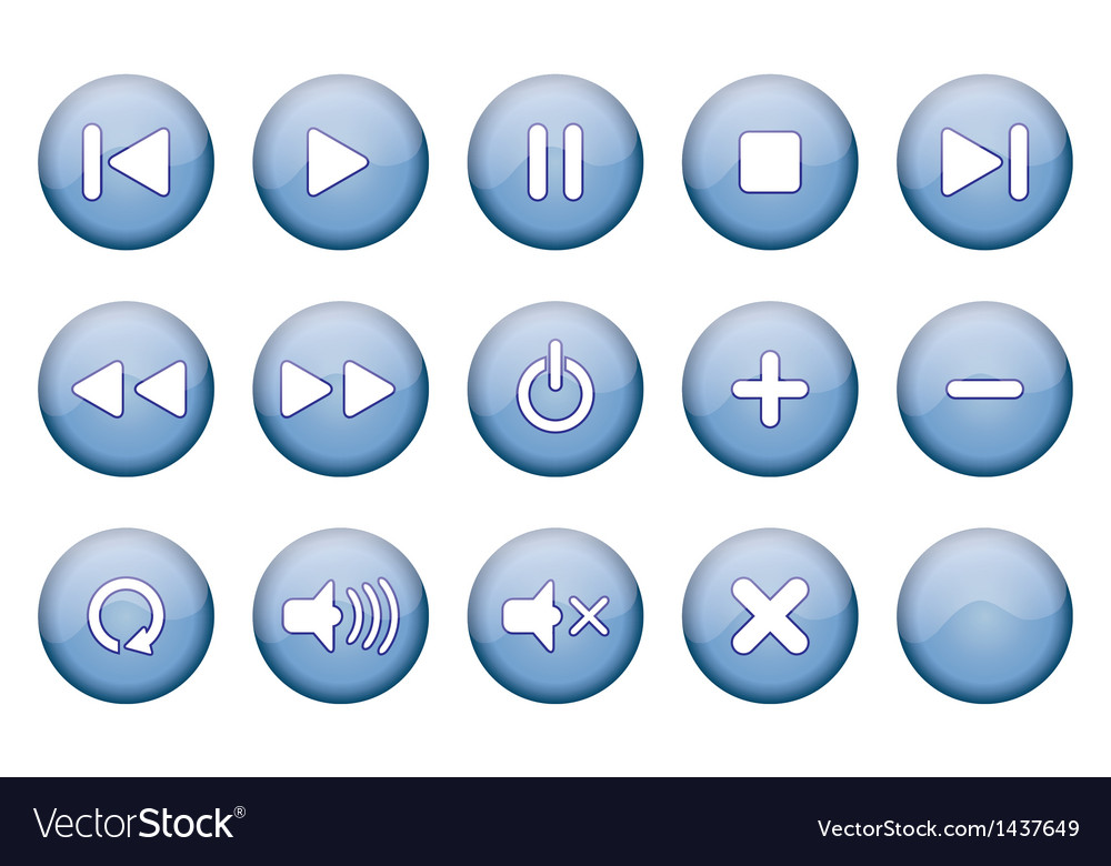 Buttons for music player vector | Price: 1 Credit (USD $1)