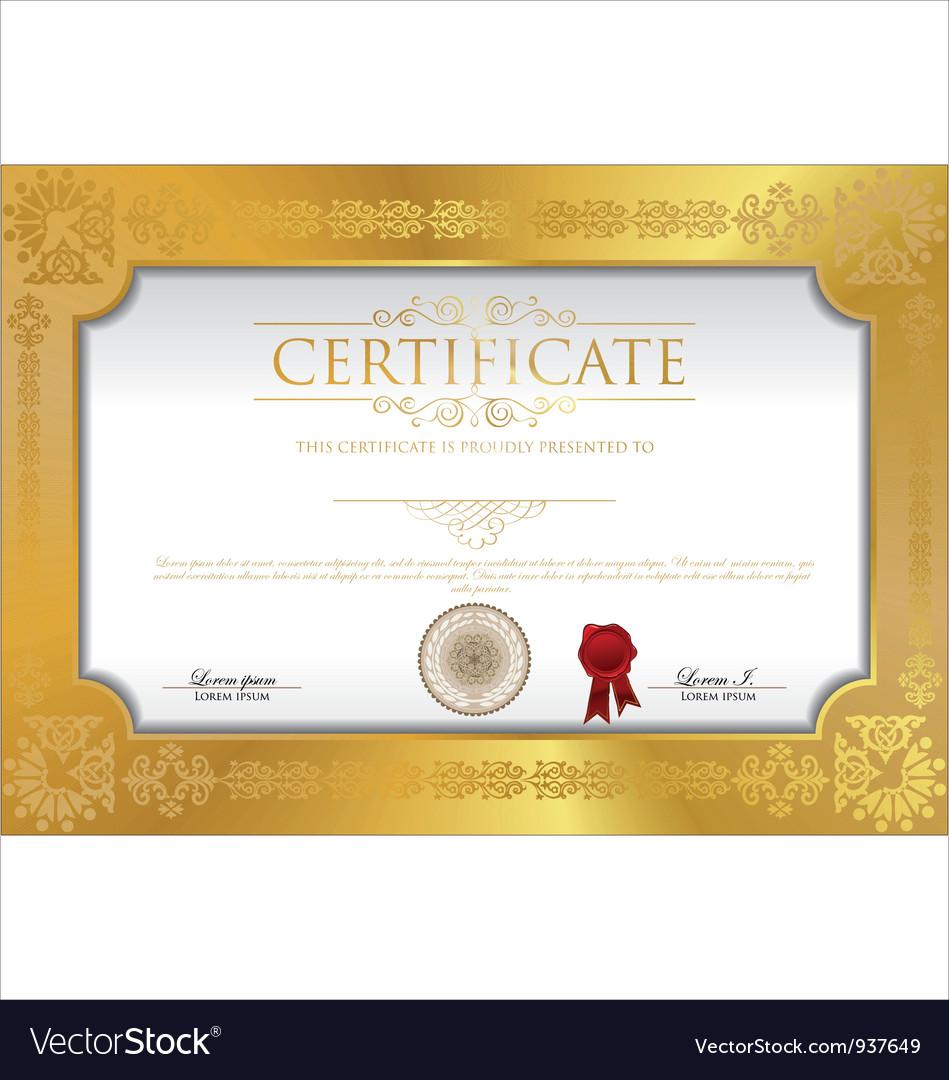 Certificate template vector | Price: 3 Credit (USD $3)