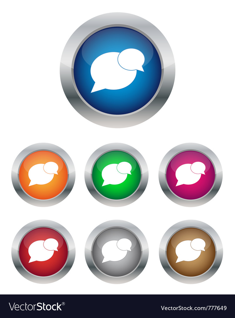 Conversation buttons vector | Price: 1 Credit (USD $1)